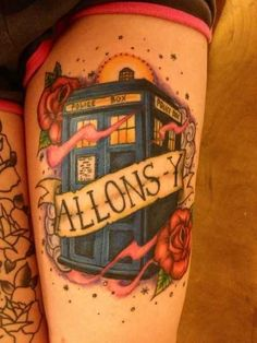 """50 Fantastic """"Doctor Who"""" Tattoos - BuzzFeed. how dedicated of a Whovian are you, @Anya Morin geek, citi tattoo, allonsi, tattoos, doctor who, tardis, doctors, tardi tattoo, ink"""