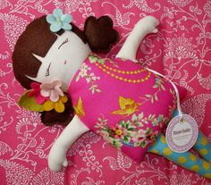 Custom Felt Doll -You pick Hair and Details -  Made Just For You