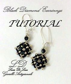 TUTORIAL ORECCHINI BLACK DIAMOND