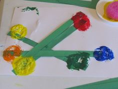 """Art after reading """"Planting a Rainbow"""" by Lois Ehlert"""