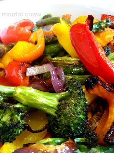 Roasted Veggies (peppers, broccoli, cauliflower, carrots)