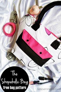 The Shopaholic Bag (FREE Bag Pattern) on believeninspire.com