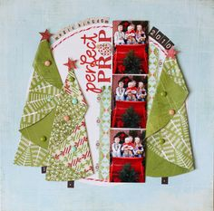 Look at these #christmas #trees #layout #scrapbook