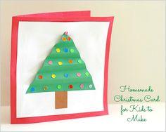 #Christmas Crafts for Kids: Homemade Christmas Card - Buggy and Buddy