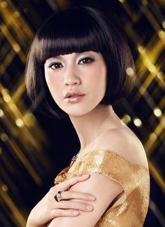 short haircuts with blunt bangs