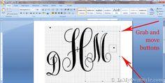 Printable Monograms in microsoft word microsoft word, idea, crafti, monogram printabl, font, ms word, printabl monogram, monograms, diy