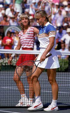 Chris Evert & Martina Navratilova