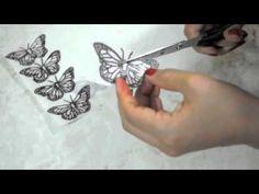 Mariposas en papel de arroz - YouTube