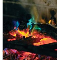 2-pack, Rainbow Fireplace Flame Crystals for Wood Fires