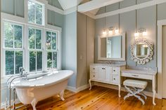 "Benjamin Moore Color...""tranquility."" And tranquil it is. A blue-gray color that won't disappoint. Beautiful."
