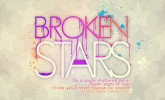Typography Broken stars