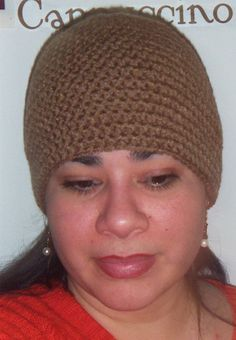 Crochet Men Beanie or Womans Beanie hat in Cafe by CrochetKnit30, $22.00