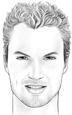How to draw faces: male