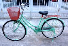 DIY project - bike makeover:turquoise and red