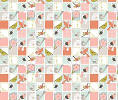 Wake Up Call - Quilt Block fabric by ttoz on Spoonflower: accessories & burp cloths