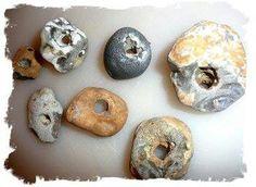 Hag rock holey stone, uk beach, stone amulet, hag rock, stoneshagstonesheart, hag stone