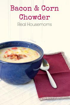 This chowder is so delicious with all the corn goodness mixed with just the right amount of smokiness from the bacon.