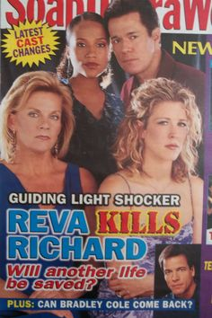 Mel, Rick, Reva & Cassie on the cover of Soap Opera Weekly.