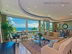 Mediterranean Style Custom Home with Panoramic Ocean & Mountain Views! #hawaii #island #realestate #interior #design #decorating #ideas