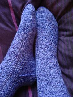 Inlay socks, pattern free on Ravelry.com