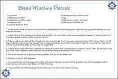 Pretzels Bread Machine Recipe