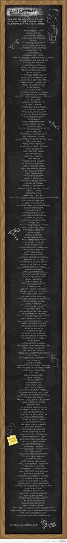 All of Bart's chalkboard quotes