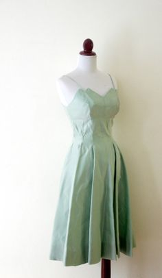 Vintage 1940s Minty Green 2 pc Party Dress by RetroKittenVintage, $65.00
