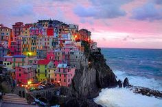 "The Cinque Terre is a rugged portion of coast on the Italian Riviera. It is in the Liguria region of Italy, to the west of the city of La Spezia. ""The Five Lands"" is composed of five villages: Monterosso al Mare, Vernazza, Corniglia, Manarola, and Riomaggiore."