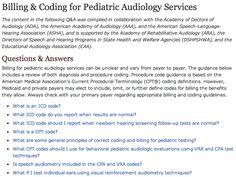 audiolog reimburs, audiolog servic, pediatr audiolog
