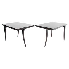 Pair of Elegant Klismos Leg Tables | From a unique collection of antique and modern end tables at http://www.1stdibs.com/furniture/tables/end-tables/