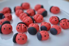 12 x Edible Sugar paste LADYBIRDS LADYBUG wedding by MadeItInHome, $3.99