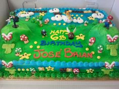 Cake Designs For Brother : Mario Brothers Cakes on Pinterest Mario Brothers, Sheet ...
