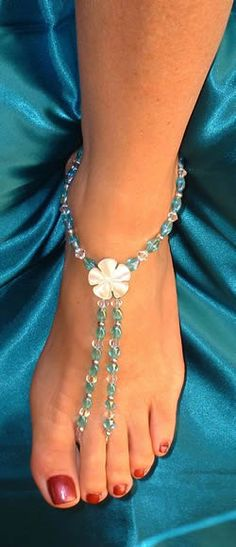 """Turquoise-y Bridesmaid beach """"shoes"""" :) (way over-priced at this website tho! I'll just have my grandma make it :P )"""