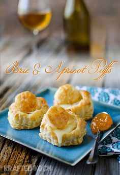 Brie and Apricot Puffs