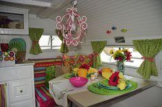 Cute trailer interior!