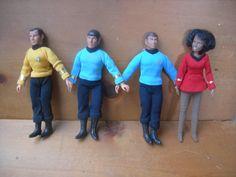 Vintage Star Trek action figures spock mccoy bones by Artcapades, $75.00