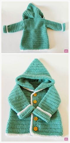 Make this cute baby hooded cardigan!
