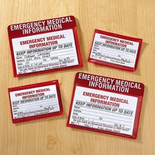 Emergency Medical Cards and Cases    #HouseholdOrganization #OrganizationIdeas