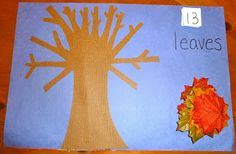 Fall Leaf Counting Mat- Pinned by @PediaStaff – Please Visit  ht.ly/63sNt for all our pediatric therapy pins