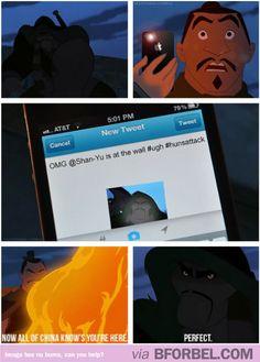 If Mulan used Twitter… #disney