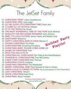 Holiday Music Playlist (not really decorating ideas but some great FOR decorating!)