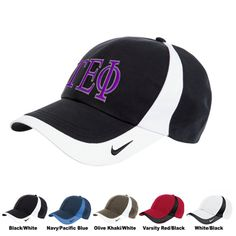 Nike Colorblock Cap with Greek Symbols $19.95 #Greek #Sorority #Fraternity #Clothing #Clothes #Accessories #Golf #Nike #Gifts