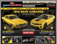 The 69 Camaro ZL1 is one of two ZL1 cars that the Camaro Dream Giveaway winner gets!     Enter to win with a donation of $3 or more to help support victims of natural disasters.   Promo code: TW1613R = bonus at: http://www.winthecamaros.com.