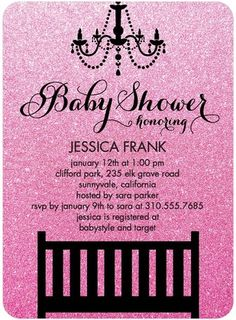 Shine Baby - Baby Shower Invitations - Coloring Cricket - Heather - Pink : Front