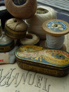 vintage threads and tin