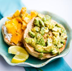 avocado, mango, & cream cheese bagel english muffins, weight loss, food, vegan recipes, avocado, almond butter, guacamango bagel, bagels, cream