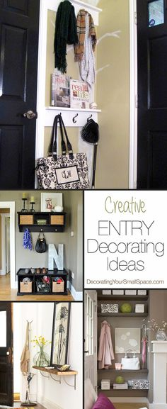 Small Entry? Great Ideas!  Creative DIY entry decorating ideas for your small space!