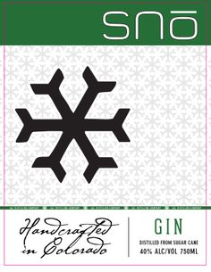 "Snō gin (and Snō vodka), ""handcrafted in Colorado."" http://www.jldistilling.com/"