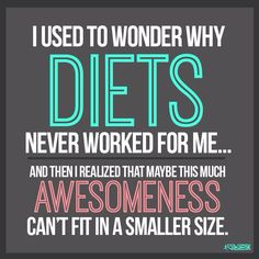 Why diets never work...