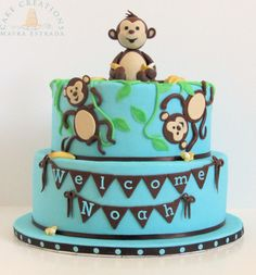 Monkeys  Bananas Baby Shower Cake